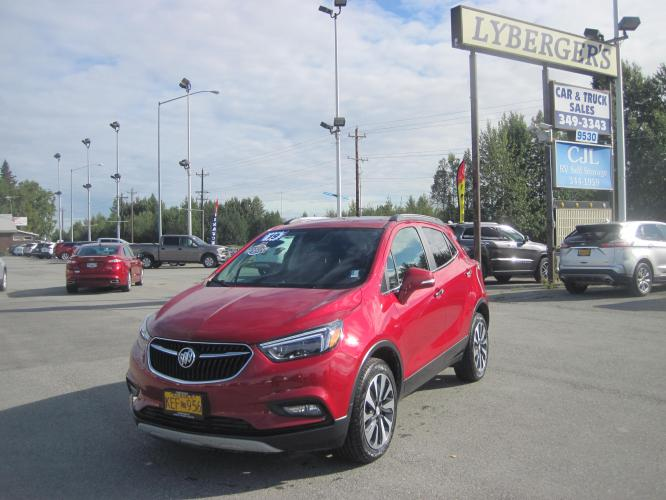 2019 red Buick Encore Essence AWD (KL4CJGSM2KB) with an 1.4L L4 DOHC 16V TURBO engine, 6A transmission, located at 9530 Old Seward Highway, Anchorage, AK, 99515, (907) 349-3343, 61.134140, -149.865570 - Photo #0