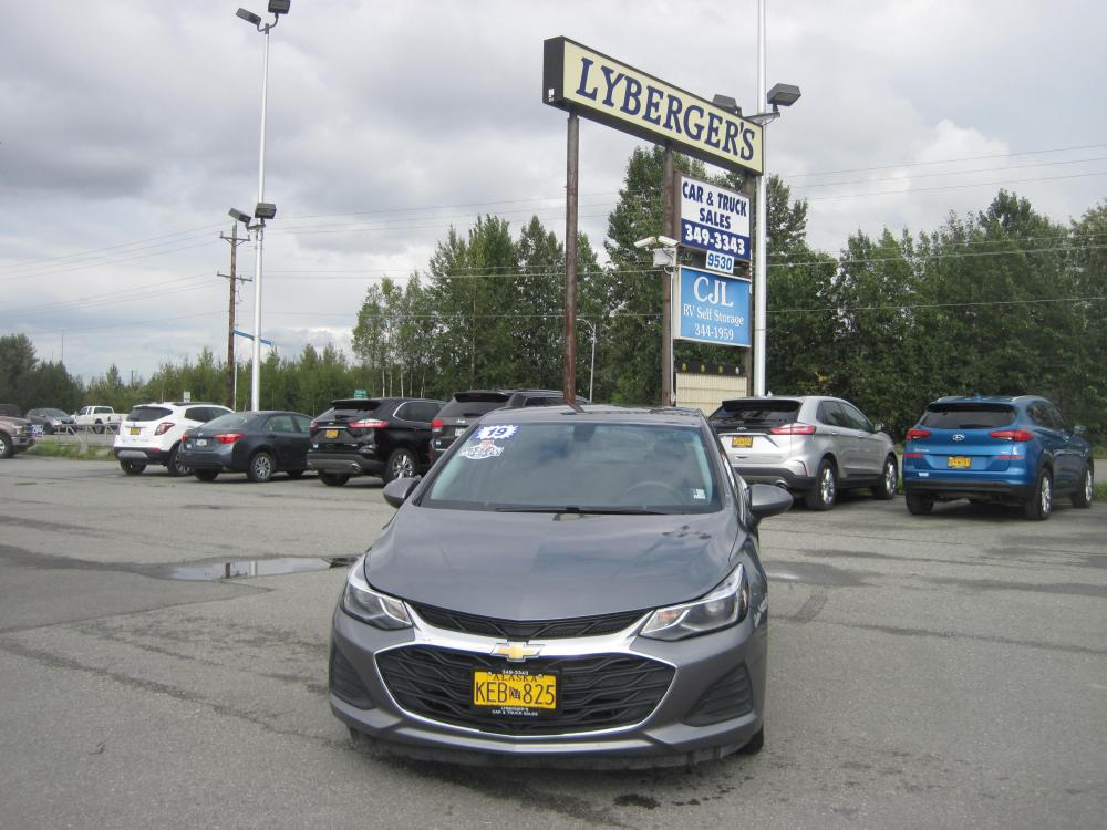 2019 gray /black Chevrolet Cruze LT Auto (1G1BE5SM7K7) with an 1.4L L4 DOHC 16V TURBO engine, 6A transmission, located at 9530 Old Seward Highway, Anchorage, AK, 99515, (907) 349-3343, 61.134140, -149.865570 - Photo #1