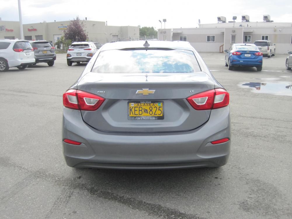 2019 gray /black Chevrolet Cruze LT Auto (1G1BE5SM7K7) with an 1.4L L4 DOHC 16V TURBO engine, 6A transmission, located at 9530 Old Seward Highway, Anchorage, AK, 99515, (907) 349-3343, 61.134140, -149.865570 - Photo #3