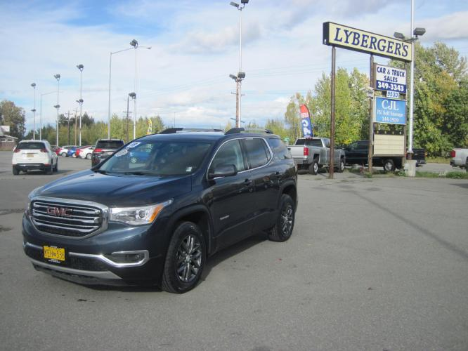 2019 blue /black GMC Acadia SLT-1 AWD (1GKKNULS8KZ) with an 3.6L V6 DOHC 24V engine, 6A transmission, located at 9530 Old Seward Highway, Anchorage, AK, 99515, (907) 349-3343, 61.134140, -149.865570 - Photo #0